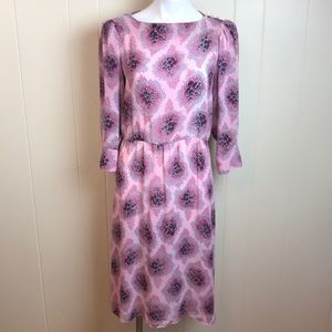 Vintage 70s/80s Semi Sheer Secretary Dress